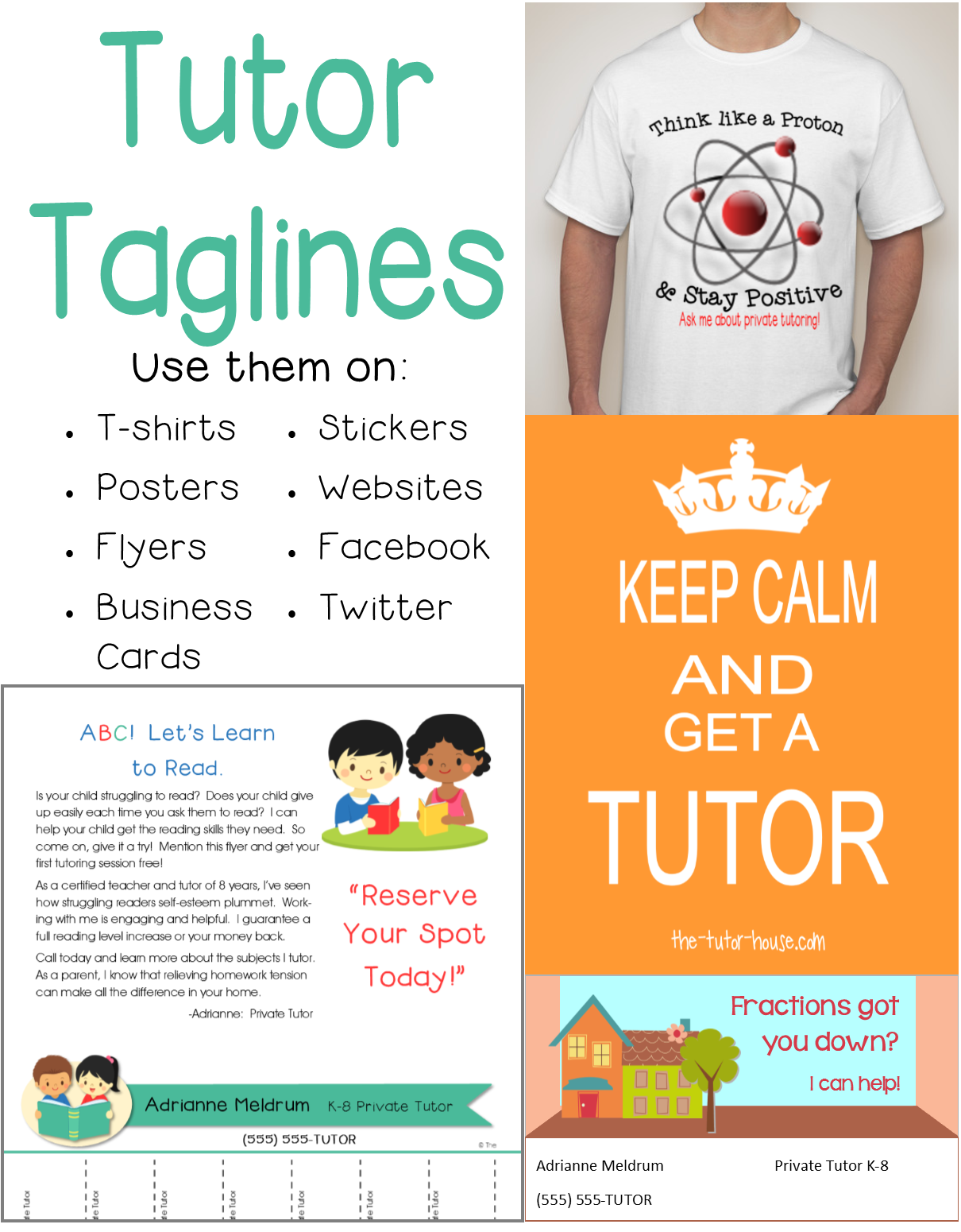 Reading Tutor Network Dyslexia Tutors: Taglines For Tutors. Looking For A Way To Spice Up Your