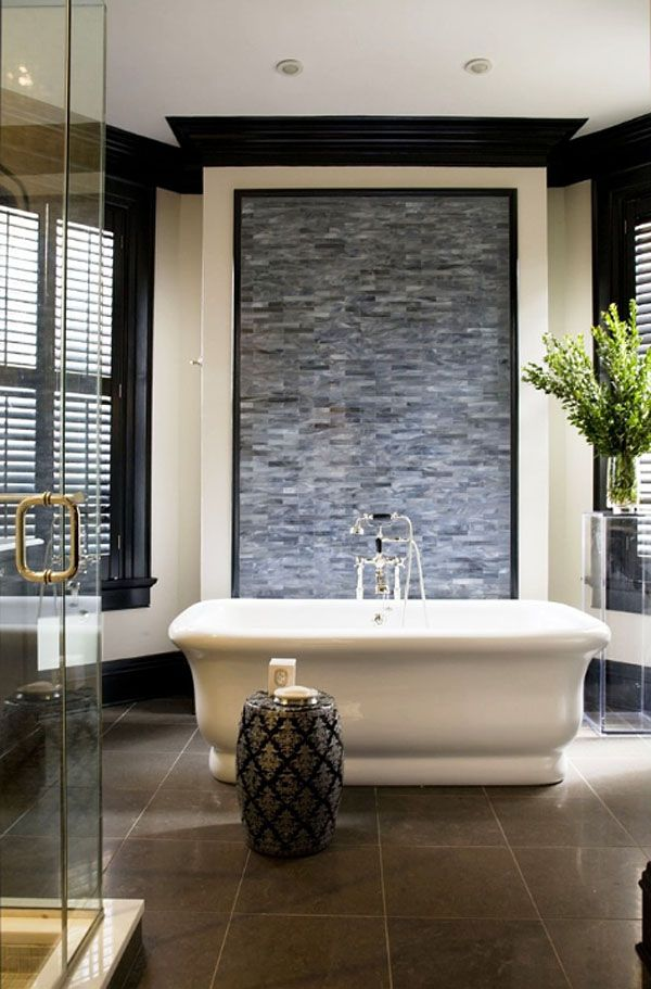 63 Sensational Bathrooms With Natural Stone Walls Bathroom Accent Wall Natural Stone Wall Contemporary Bathroom Designs