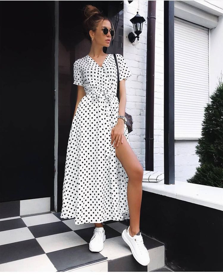 Fashion, Dress with sneakers, Outfits