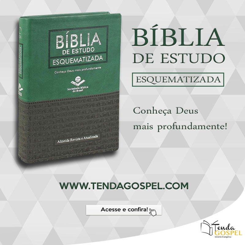 Biblia De Estudo Esquematizada Luxo Verde E Preta Na Tenda