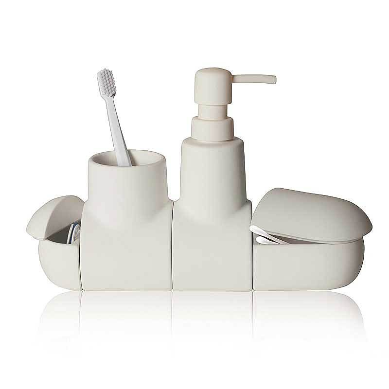 top3 by design - Seletti - submarino bathroom set white