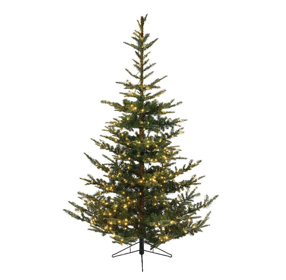 This Nobolis Fir Pre-Lit Artificial Christmas Tree is a ...