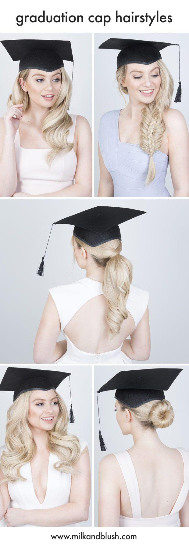 Milk Blush Remy Human Hair Extensions Graduation Hairstyles With Cap Graduation Hairstyles Hair Styles