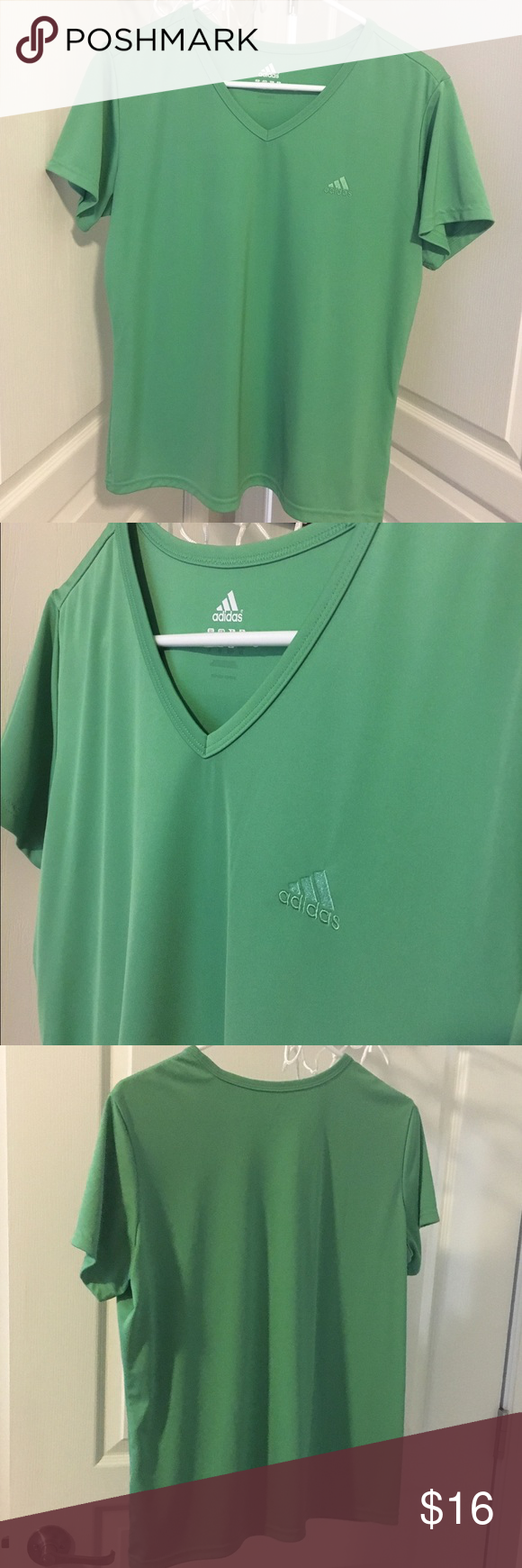 Adidas athletic top Nice material, very good condition adidas Tops Tees - Short Sleeve