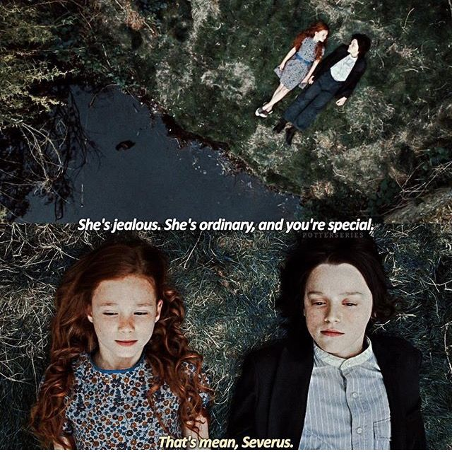 Snape and Lily Evans