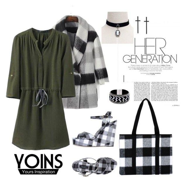 """3/4 LEGNTH SLEEVE CHIFFON DRESS"" by agnesmakoni ❤ liked on Polyvore featuring Dolce&Gabbana, Pijama and yoins"