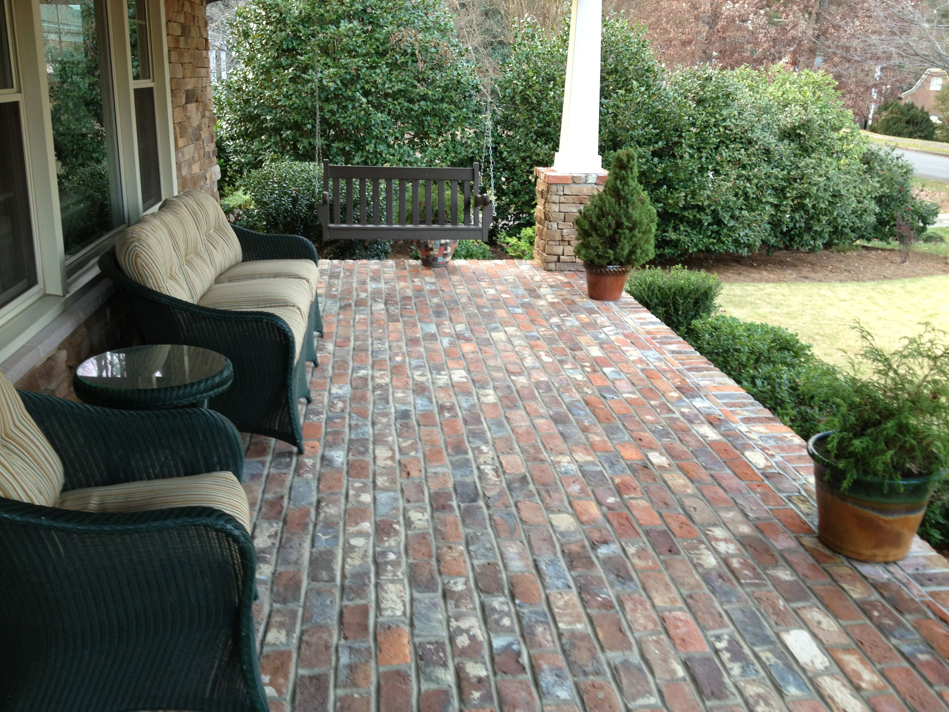 Best Reclaimed Bricks Front Porch Brick Steps Brick Porch 400 x 300