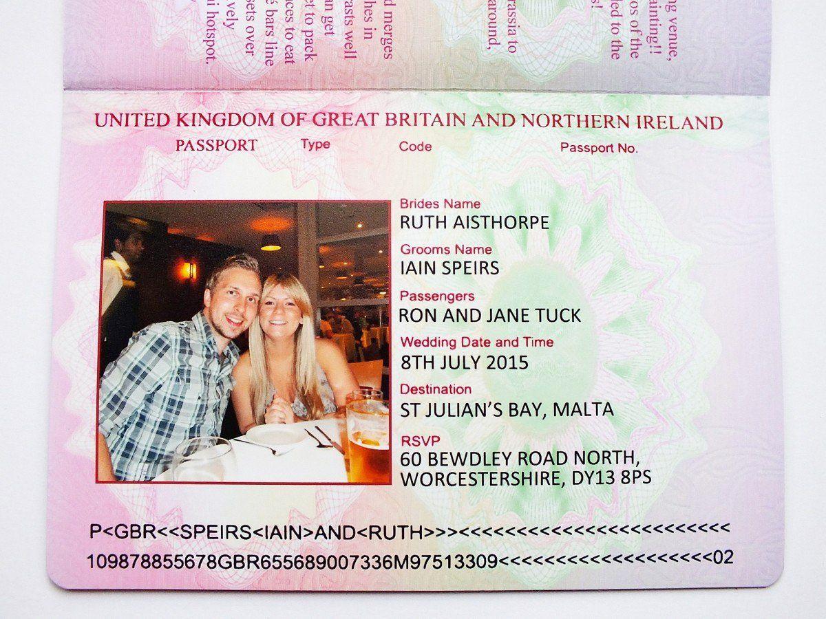 Passport Invitation Template Free Inspirational Uk Passport