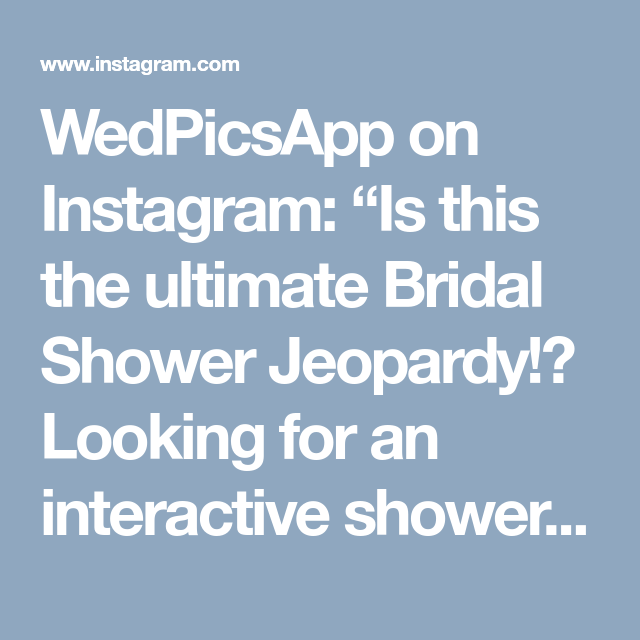 """Interactive Wedding Ideas: WedPicsApp On Instagram: """"Is This The Ultimate Bridal"""