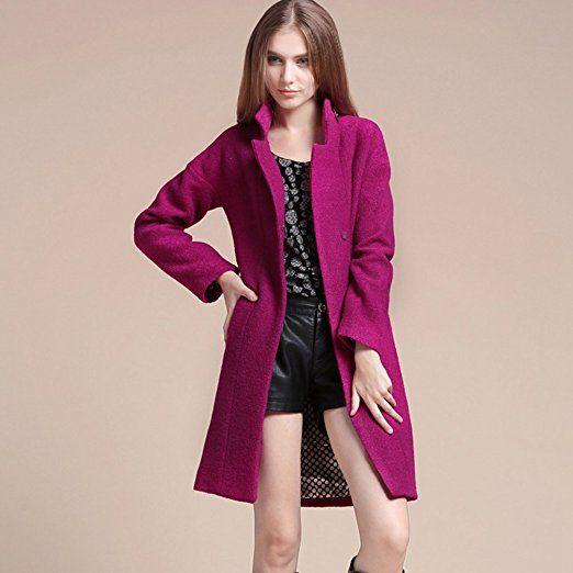 purchase cheap e27f4 c52af Jitong Damen Mäntel Lange Trenchcoat Wintermantel ...