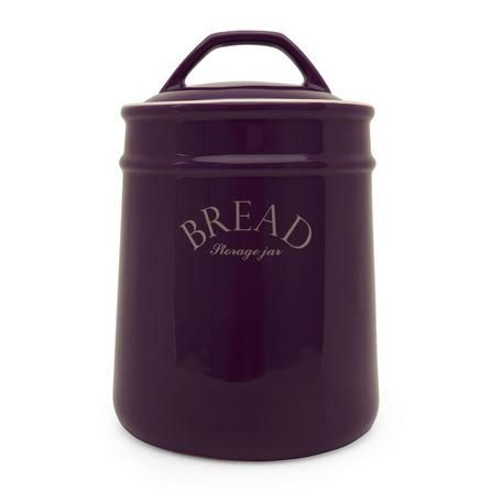 Mulberry Collection Purple Bread Bin | Dunelm