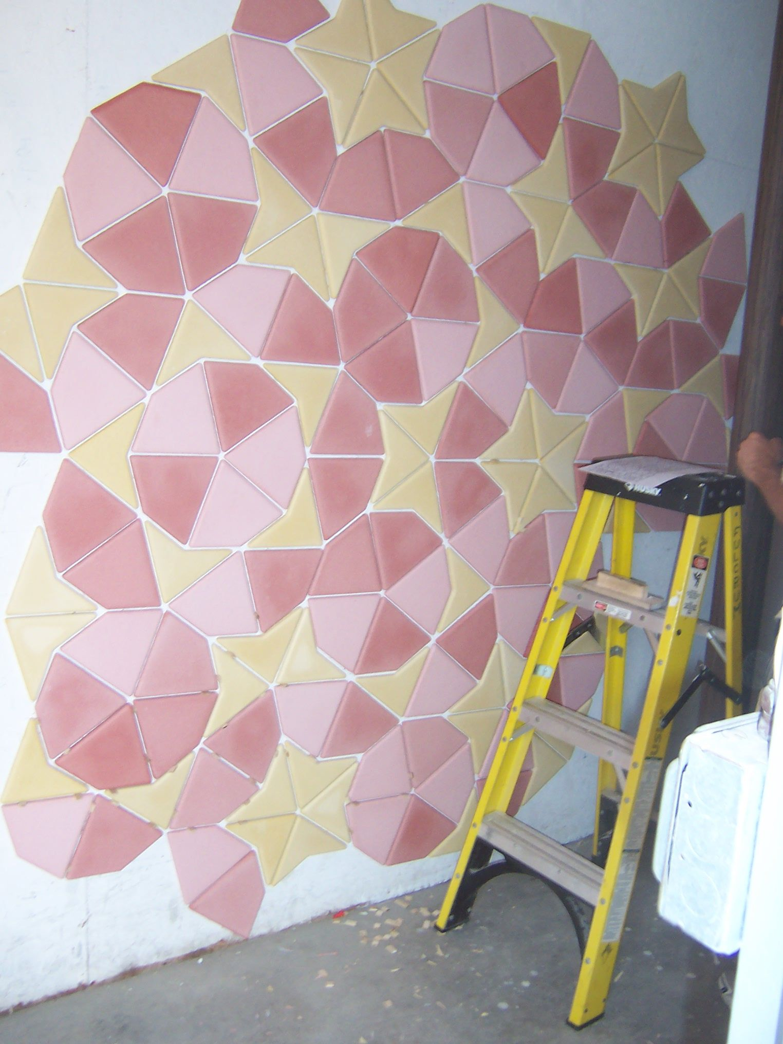 Penrose tiling we produce these tiles by cnc cutting the shapes penrose tiling we produce these tiles by cnc cutting the shapes defined by sir roger dailygadgetfo Images