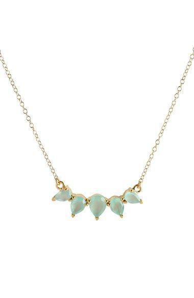 leah alexandra 'Sunny' Crescent Pendant Necklace available at #Nordstrom