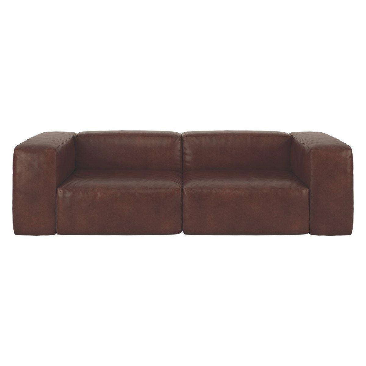 The Luxurious Opollo Tan Leather 4 Seater Sofa Is Part Of The Versatile Opollo Modular Range Which Allows You To Cu Tan Leather Sofas Leather Sofa Seater Sofa