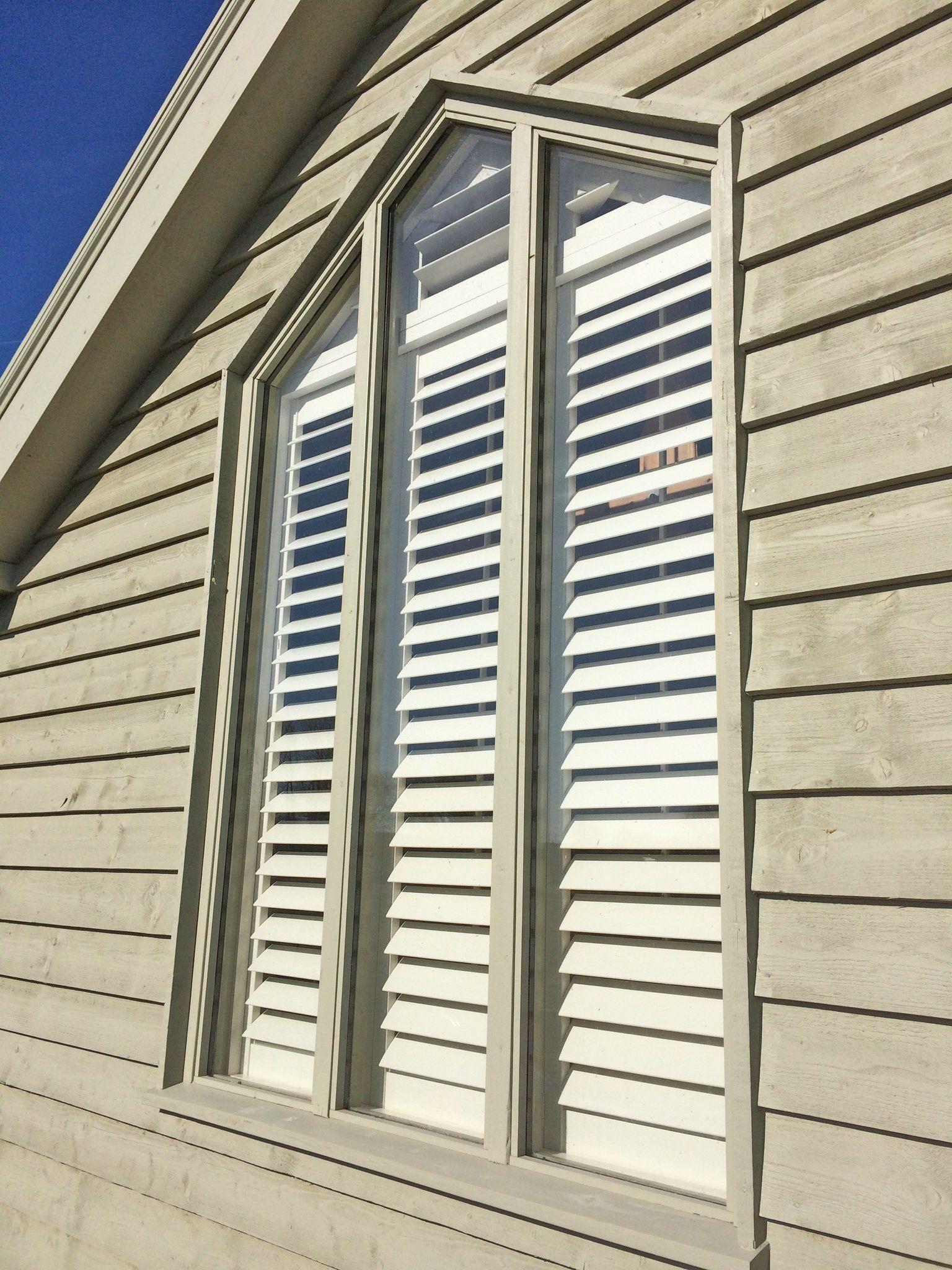 Gable end window ideas  special shape shutters for gable end window in suffolk