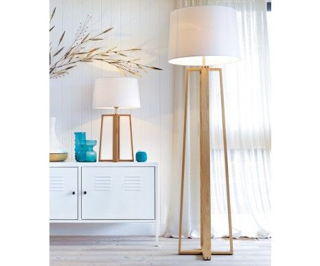 Copenhagen floor lamp in teak beacon lighting want this for the lounge room