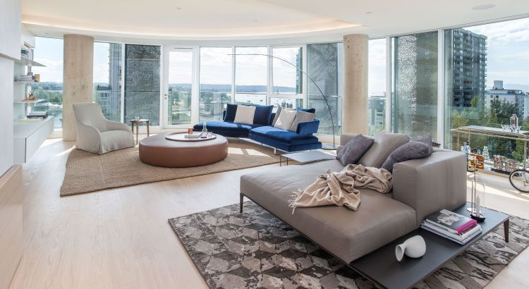 A Modern Spacious Living Room With Sweeping Views Of Vancouver Luxury Living Room Decor Spacious Living Room Living Room Images Spacious modern living room interiors