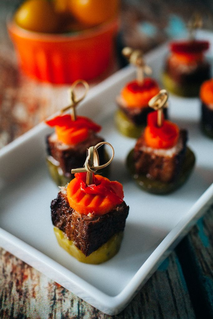 Braised Pork Belly Canapés | Recipe | Braised pork belly ...