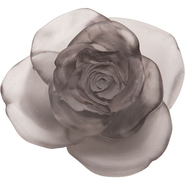 Daum Gray Rose Passion Flower Sculpture ($605) ❤ liked on Polyvore featuring home, home decor, iconing, grey, daum, grey home decor, gray home decor, rose home decor y handmade home decor