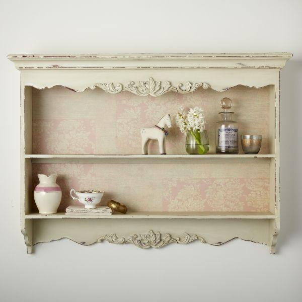 Shabby Chic Kitchen Shelves: Shabby Chic Wall Shelf Unit