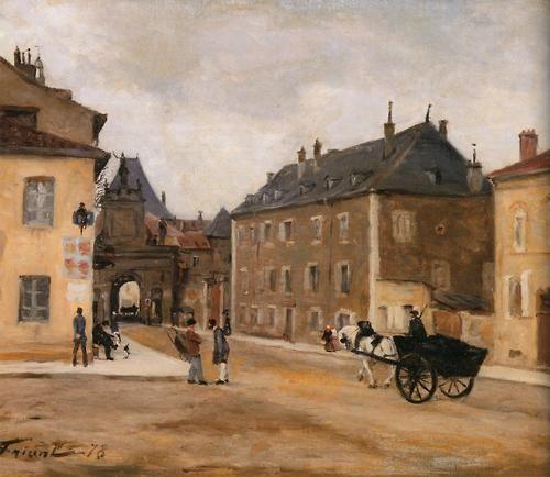 Emile friant la porte saint georges vue exterieure 1878 - La porte exterieure ...