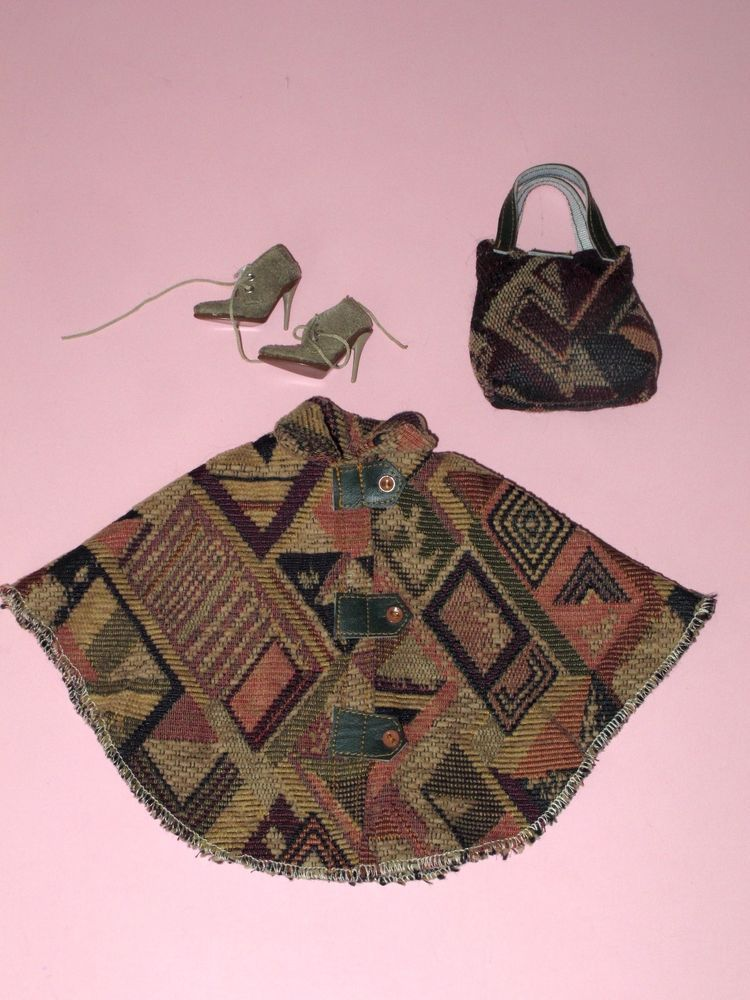 "Tonner Doll Handmade 16"" Fashion Doll Poncho & Purse - Tyler Wentworth & Friends 