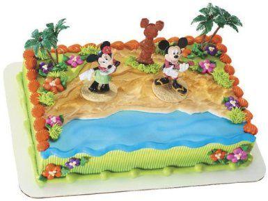 Amazon Com Disneys Mickey And Minnie Mouse Luau Cake Decorating