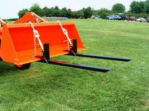 Pair Bucket Pallet Forks Tractor Idea Tractor Attachments Tractor Implements