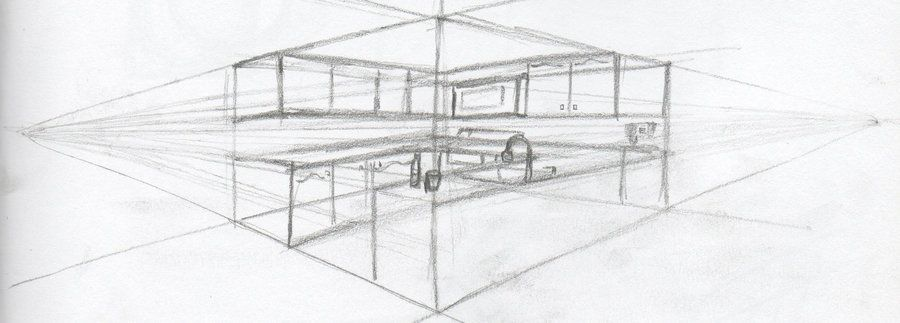 Kitchen Drawing Perspective kitchen perspective drawing | perspective drawing | kitchen & bath