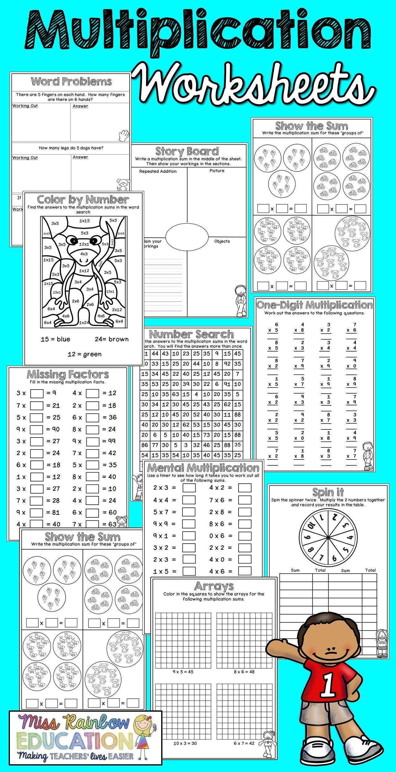 Multiplication Worksheets No Prep