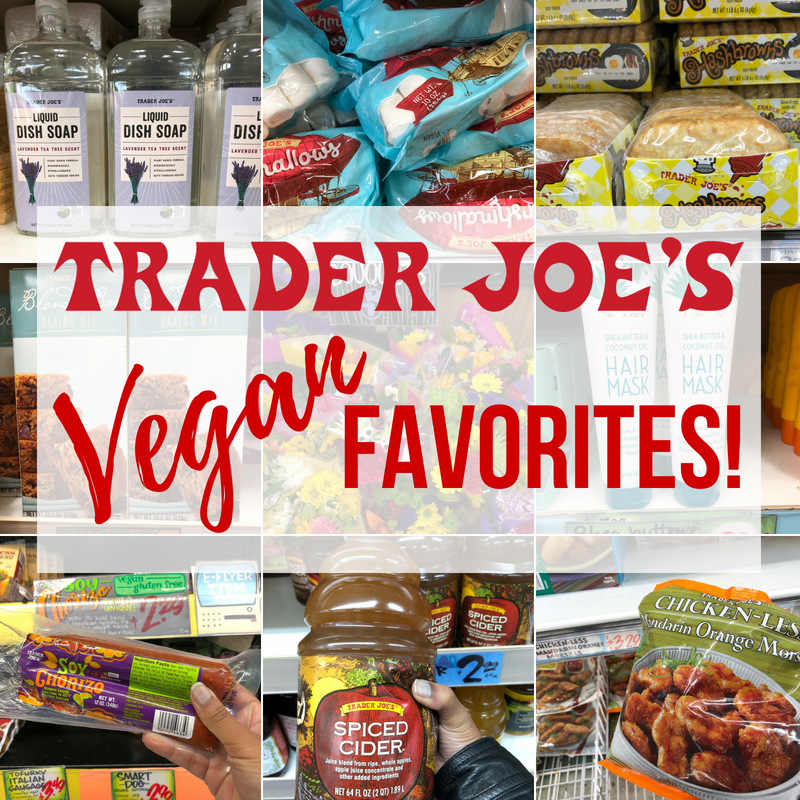 All my favorite items from Trader Joe's compiled into one
