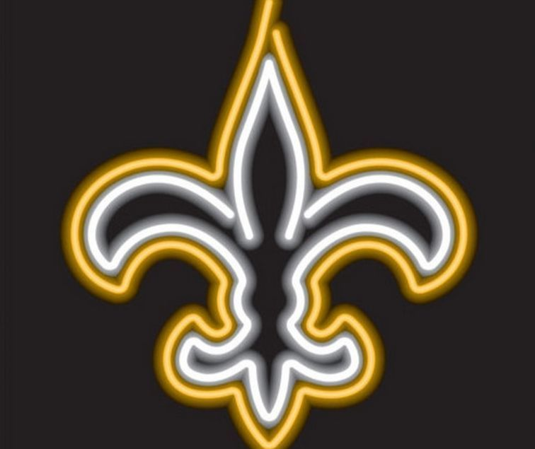 New Orleans Saints Neon Sign Nfl Team Logo Football Fan Man Cave