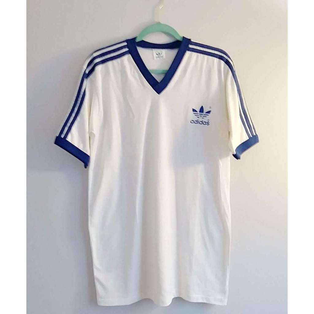 Authentic Vintage Adidas Striped Shoulder Soccer Shirt. Find this Pin and  more on Vintage Clothes for Sale ... 8ed9b44aee5f