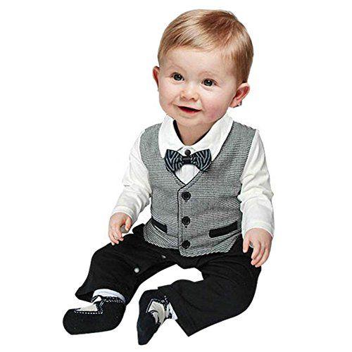 16ff2fdd381f Click to Buy    Niosung Newborn Infant Baby Boys Short Sleeve Bow ...