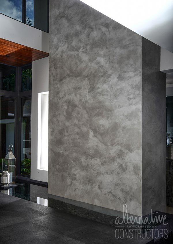 Burnished Concrete Wall Water Feature Concrete Wall Concrete Decor Concrete
