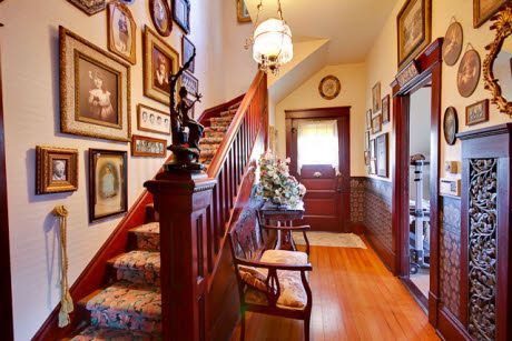 Victorian Foyer Decorating Ideas : Victorian home look at that staircase and the woodwork foyer