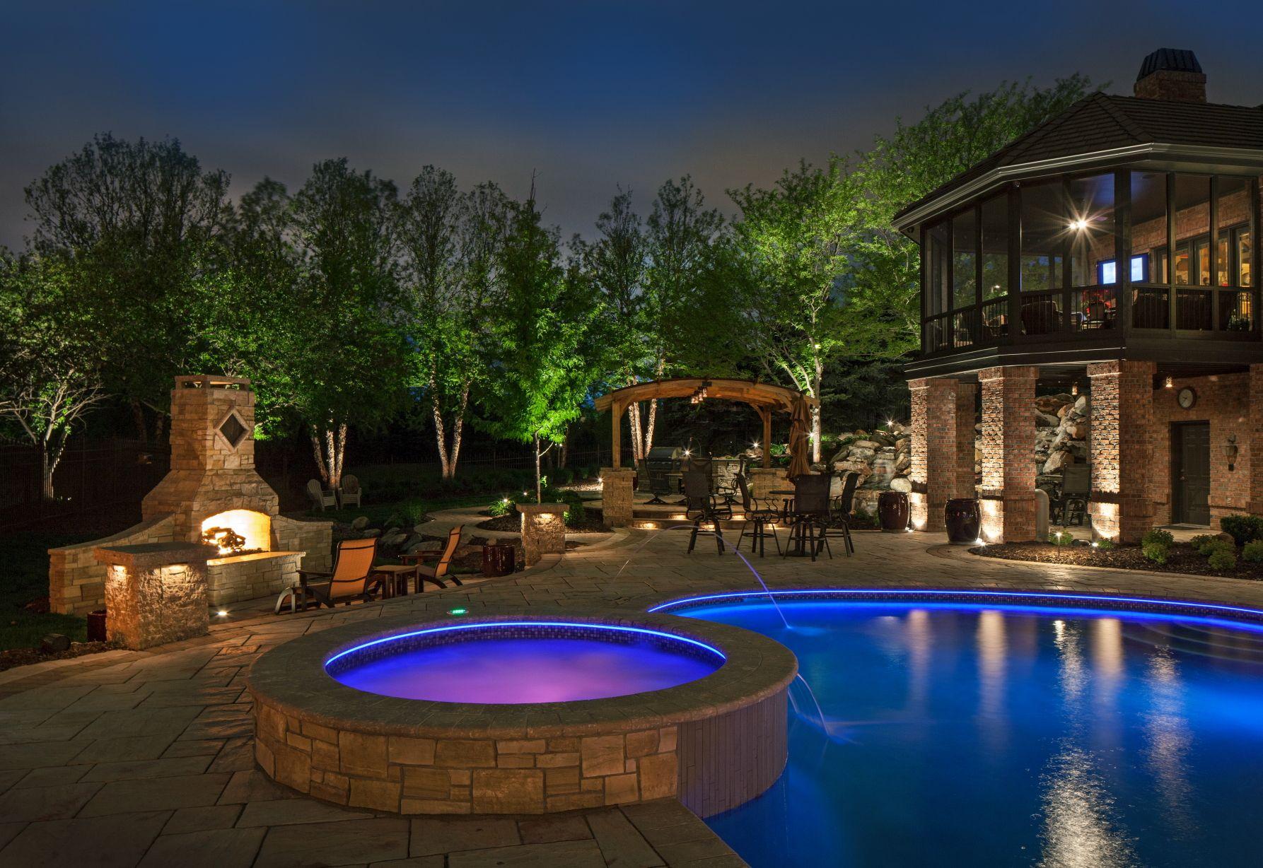 Pool Landscape Lighting Ideas Google Search Design