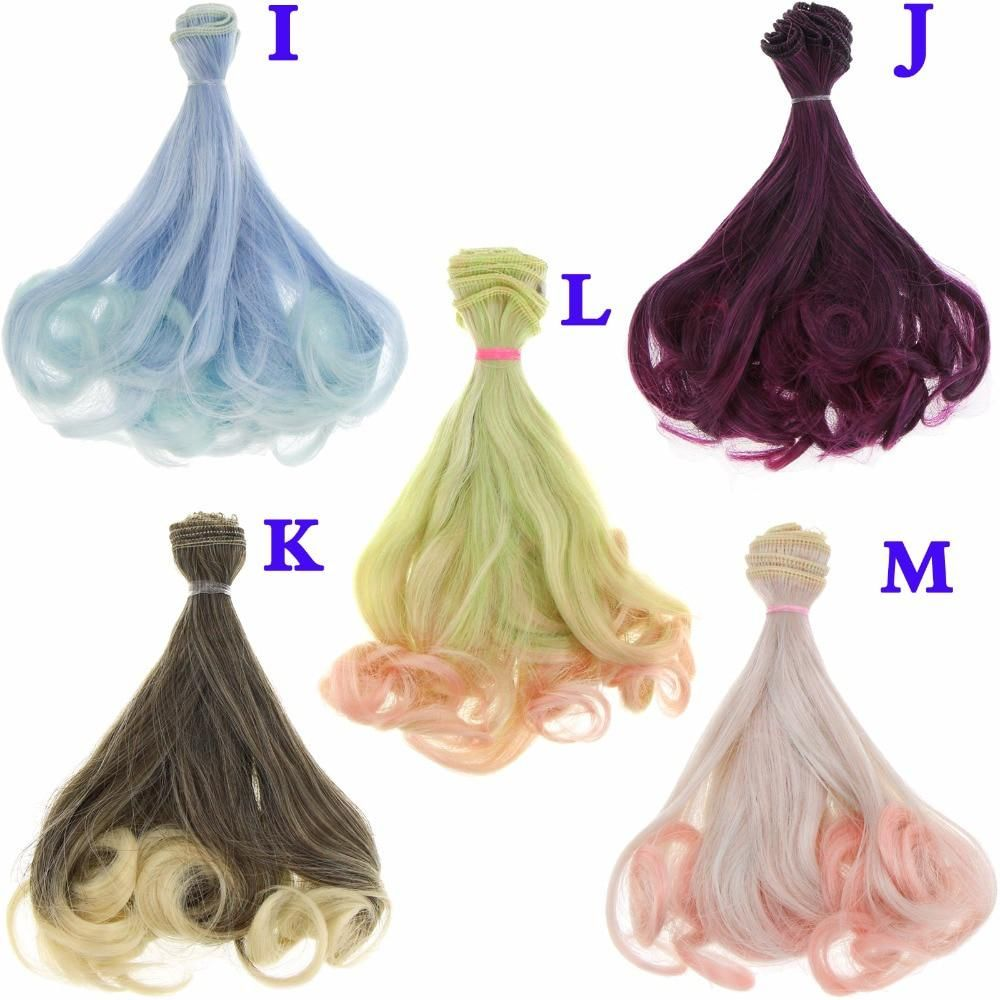 15*100cm High-temperature Long Curly Hair Wig For Doll /& BJD Doll