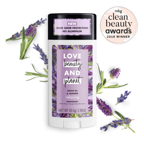 Love Beauty Planet Argan Lavender Relaxing Deodorant Stick Beauty Planet Deodorant Argan Oil