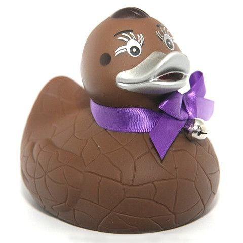 Chocoholic Purple Chick | Rubber duck