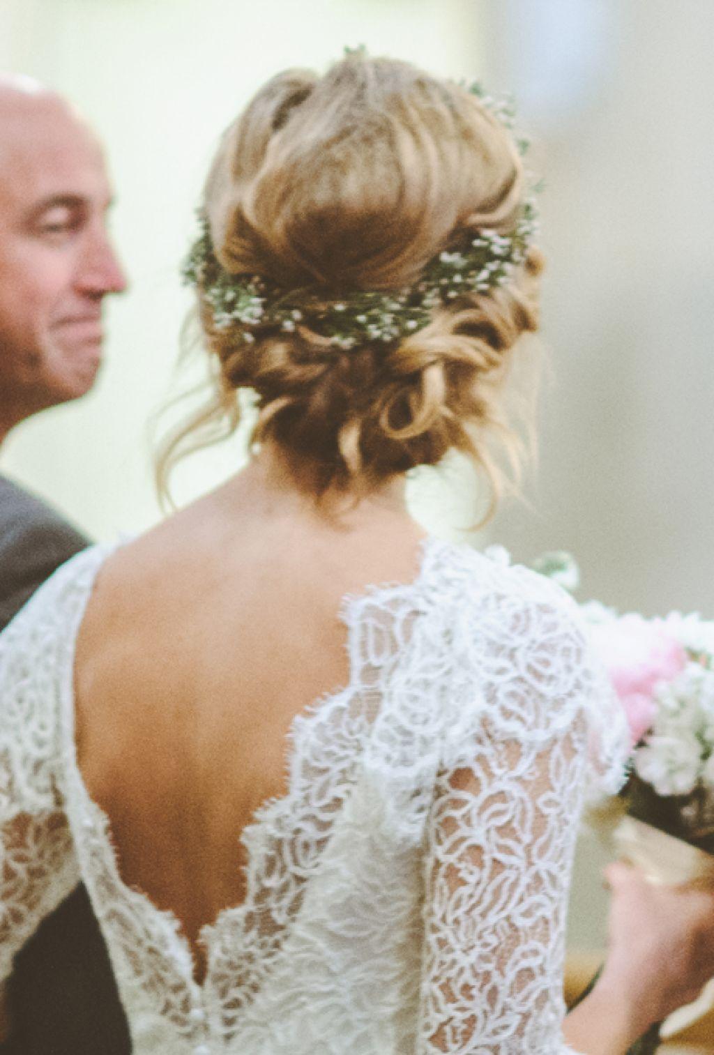 Bildresultat For Flower Crown Short Hair Short Wedding Hair Vintage Wedding Hair Flower Crown Hairstyle [ 1513 x 1024 Pixel ]