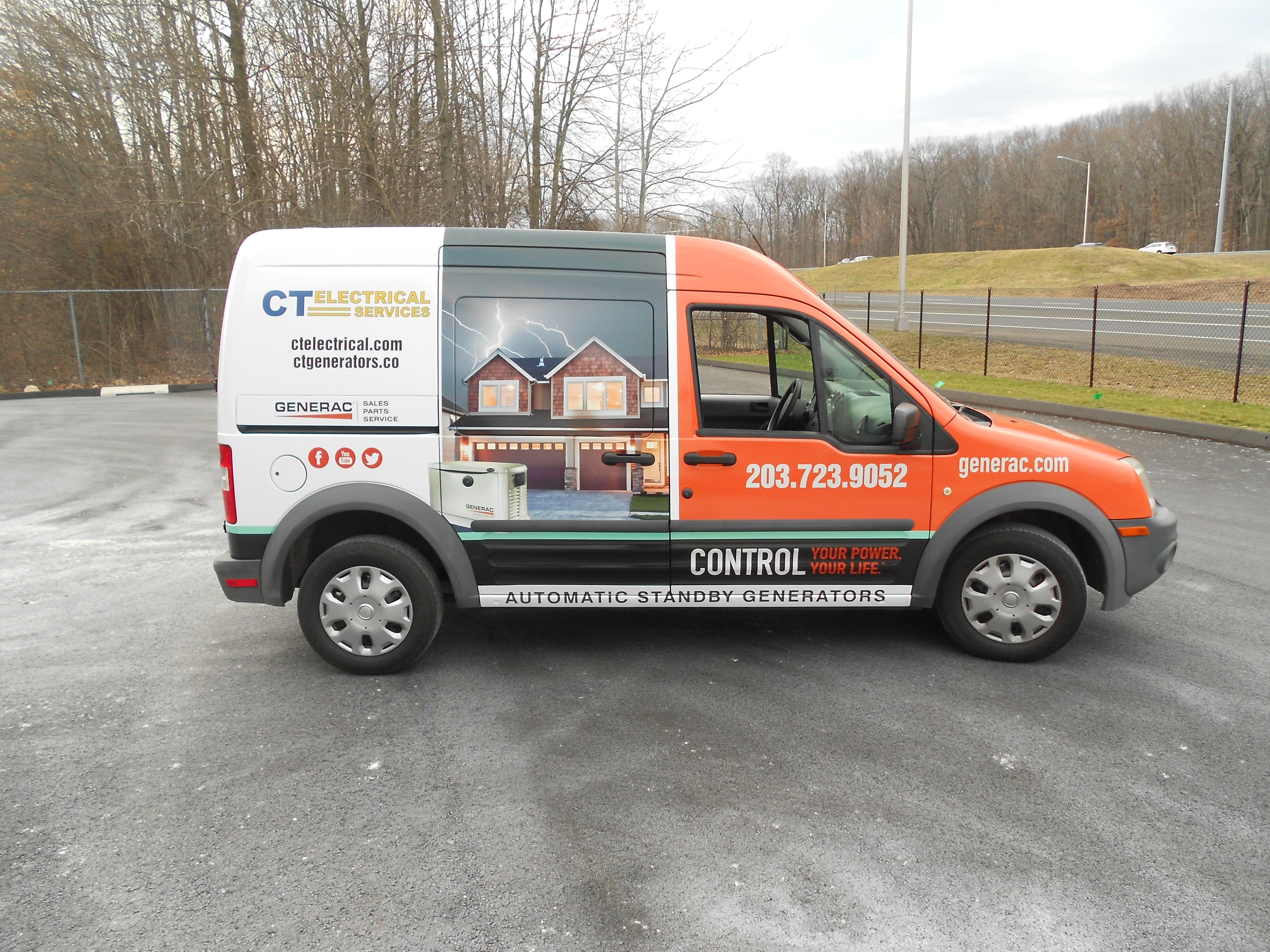 Ct Electrical Graphic Wrap Done By Sign Pro Inc Sign Pro Car