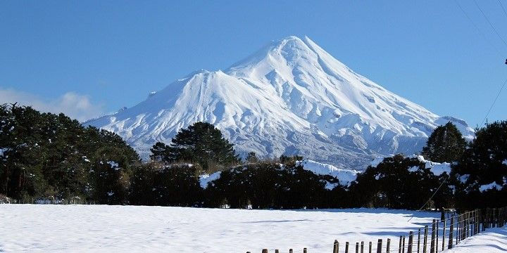 Mount Taranaki, Egmont National Park, North Island, New Zealand, Oceania