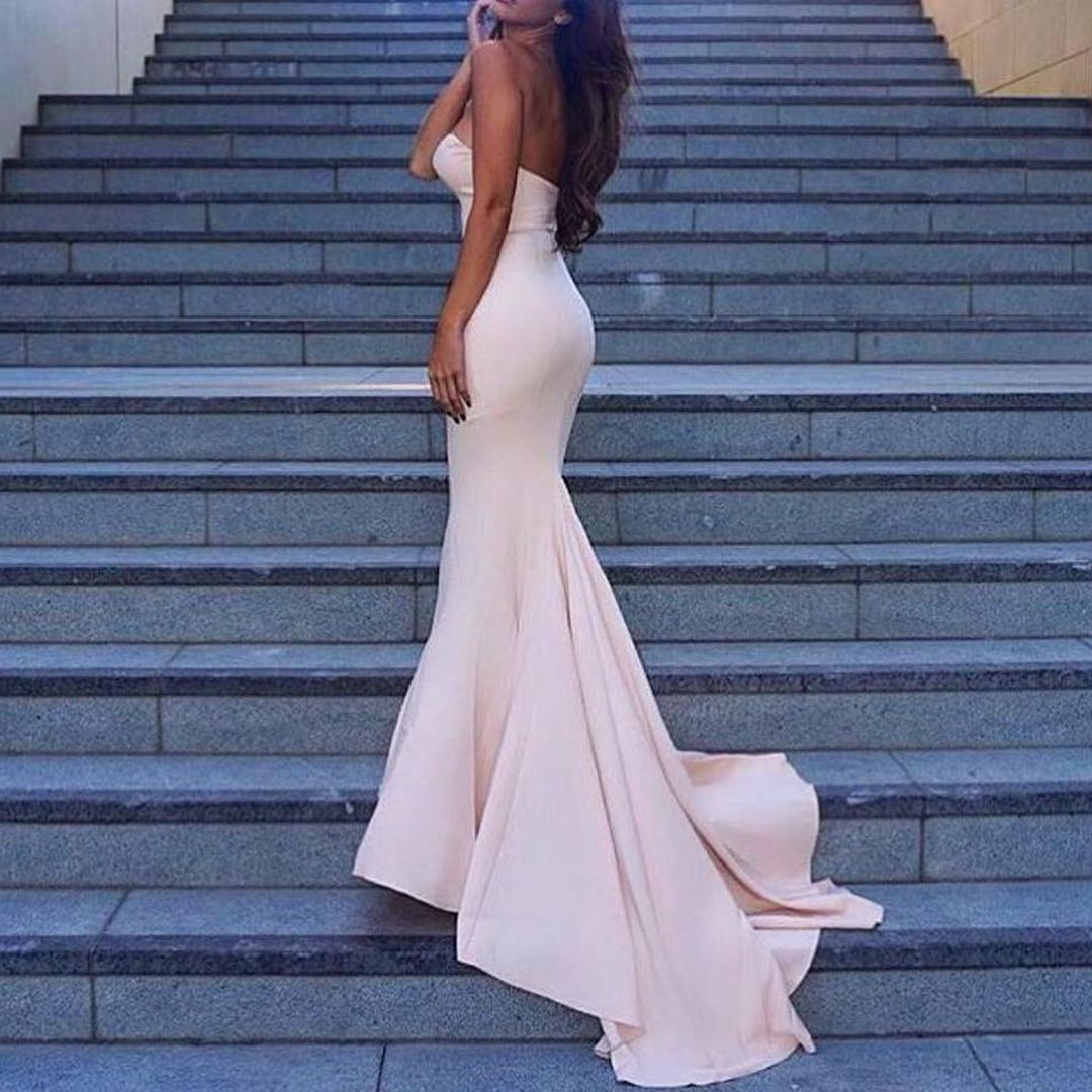 10++ Baby pink fishtail prom dress ideas in 2021