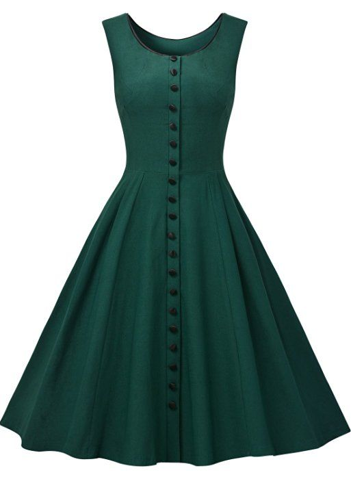 4ee976d9e82 Missmay Women s Audrey Hepburn Sleeveless Retro Swing Rockabilly Evening  Dress