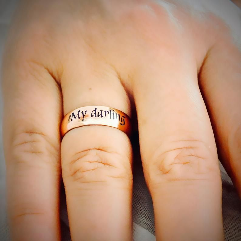 Custom Name Ring, Personalized Name Ring, Wedding Band Gold, Stacking Ring, Engraved Ring, Gold Ring for Women, Personalized Gift Ring
