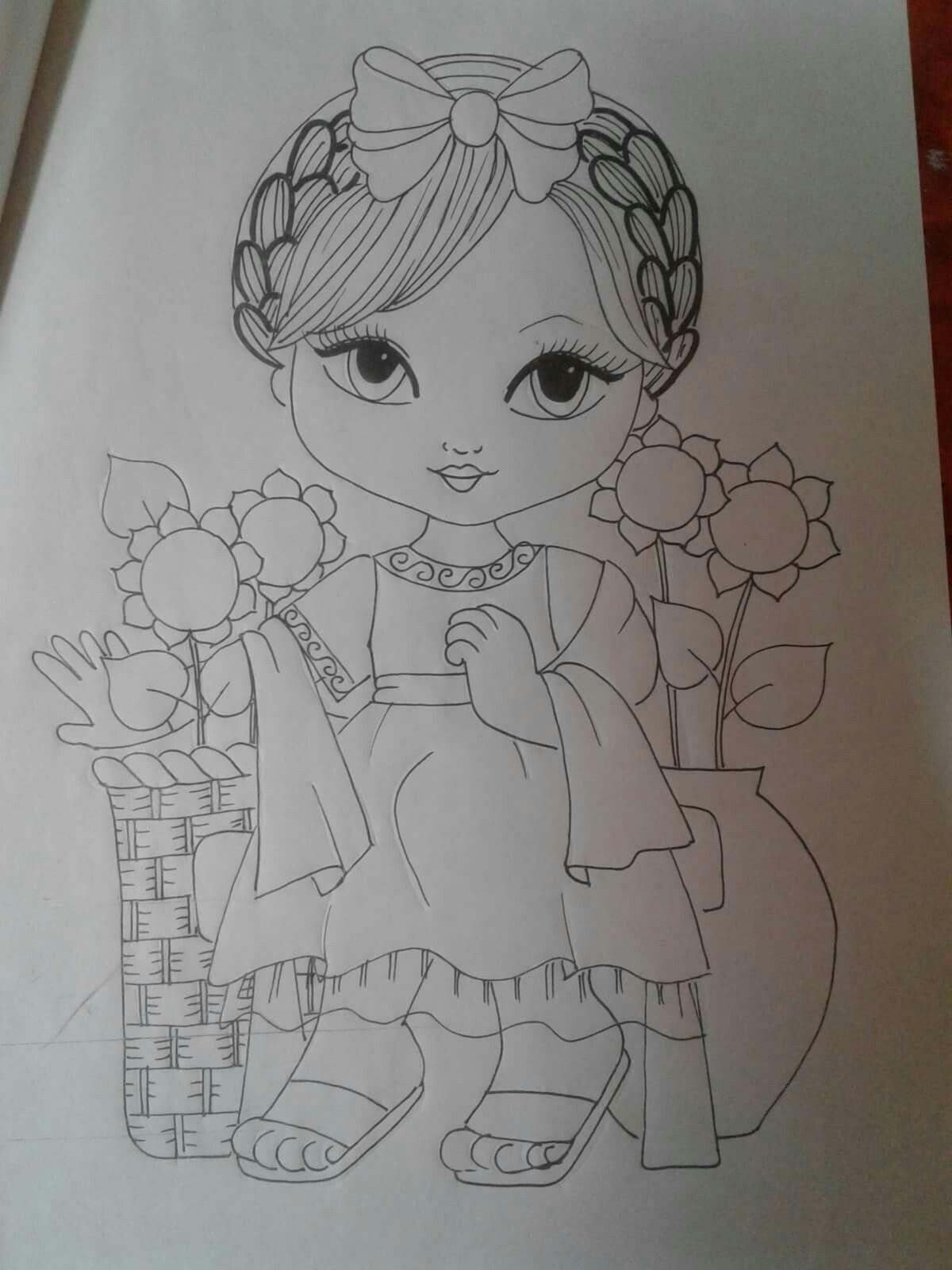 Listo para pintar pintura en tela fabric painting - Dibujos para pintar en tela infantiles ...