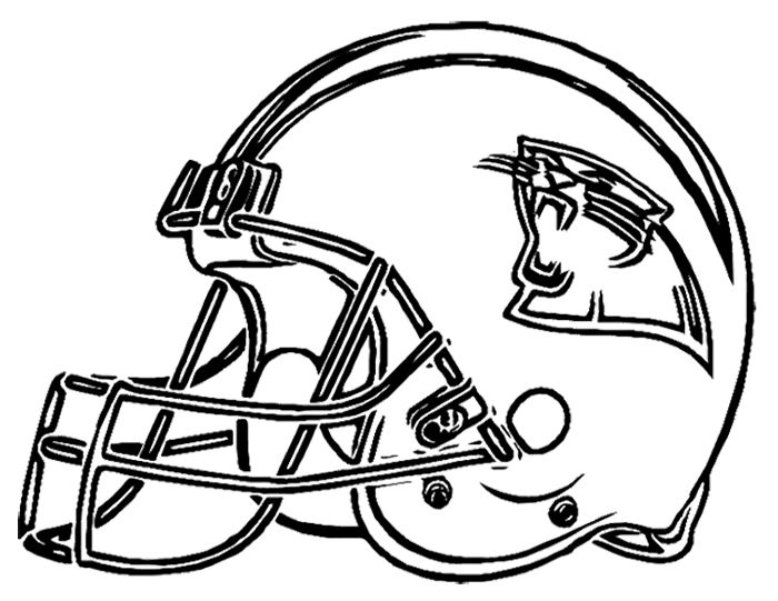 Football Helmet Carolina Panthers Coloring Page Football