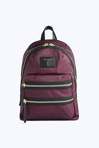 c25b7bfa71f5 Marc Jacobs Nylon Biker Mini Backpack in Dark Violet