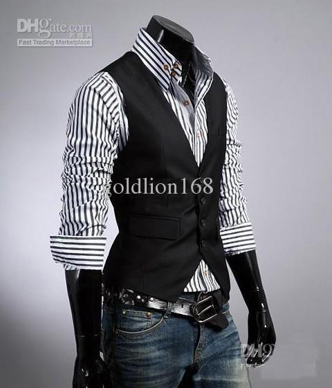 mens korean style | 2013 Korean hot Fashion men's Vests Slim Vest Outwear casual vest free ...